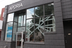 Frosted vinyl window graphics Aporia