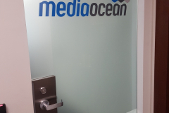 Frosted vinyl with cut vinyl logo Media